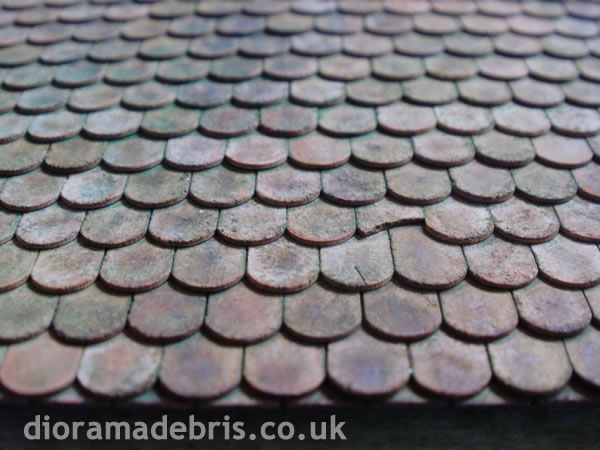 1 35 Scale Beaver Tail Roof Tiles Moulds 1350059